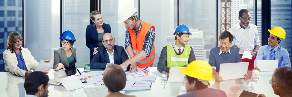 Business People Meeting Architect Engineer Corporate Concept
